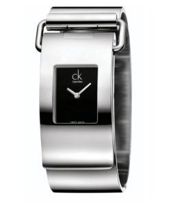 Calvin Klein Damen Analog Quarz Uhr mit Edelstahl Armband K3K2M111