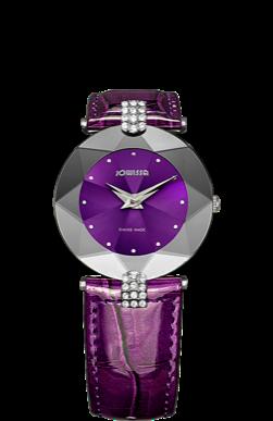 JOWISSA 左薇莎手表 FACET STRASS 紫色 大号