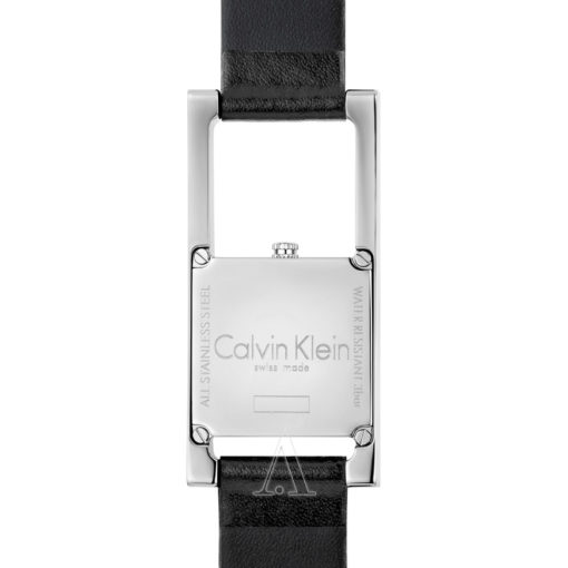 Calvin Klein Damen Analog Quarz Uhr mit Leder Armband K4H431C1