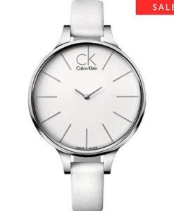 Calvin Klein K2B23101 ck glow weiß Damenuhr